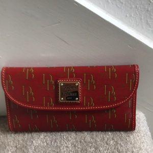 Vintage Dooney and Bourke checkbook wallet